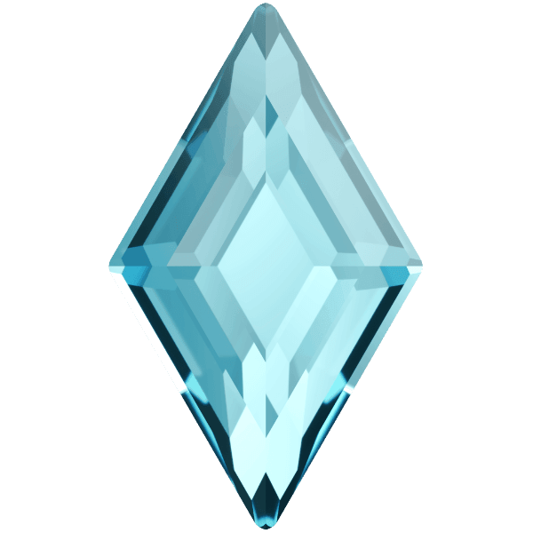 Swarovski 2773 - Diamond Shape, Hotfix - Aquamarine