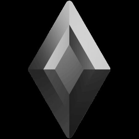 Swarovski 2773 - Diamond Shape, Hotfix - Jet Hematite