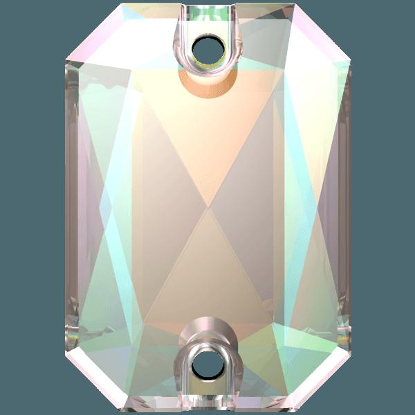 Swarovski 3252 - Emerald Cut - Crystal AB