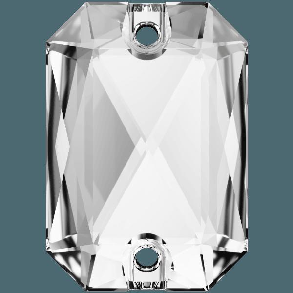 Swarovski 3252 - Emerald Cut - Crystal