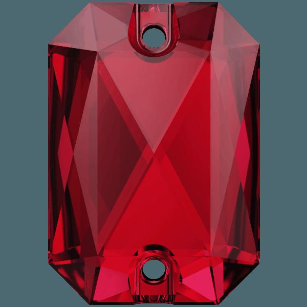 Swarovski 3252 - Emerald Cut - Scarlet