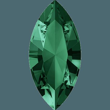 Swarovski 4228 - XILION Navette, Emerald