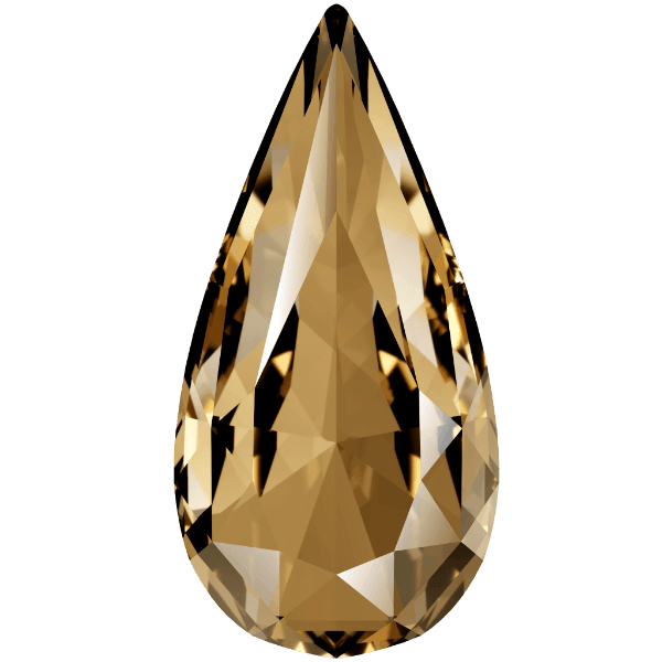Swarovski 4322 - Teardrop, Crystal Golden Shadow