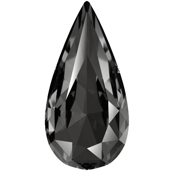Swarovski 4322 - Teardrop, Crystal Silver Night