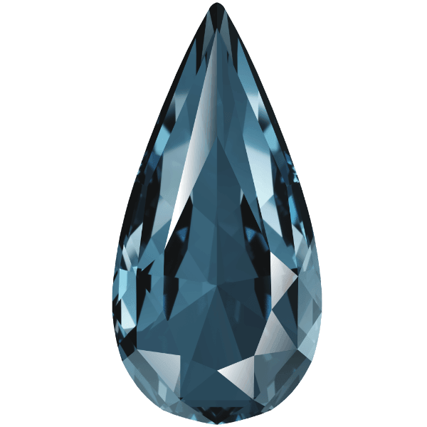 Swarovski 4322 - Teardrop, Denim Blue