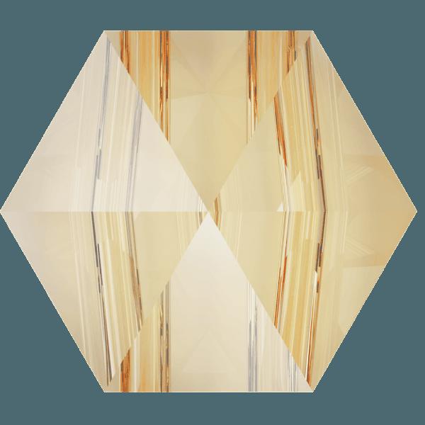 Swarovski 5060 - Hexagon Spike, Crystal Golden Shadow