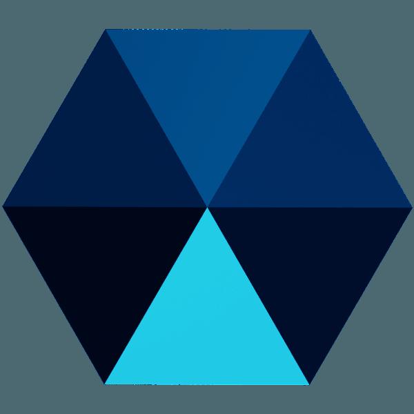 Swarovski 5060 - Hexagon Spike, Crystal Metallic Blue