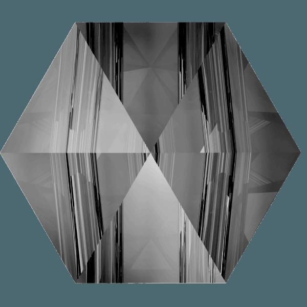 Swarovski 5060 - Hexagon Spike, Crystal Silver Night