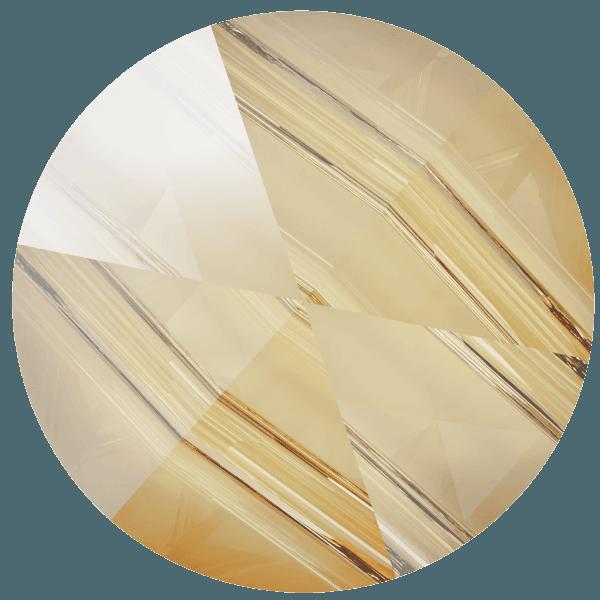 Swarovski 5062 - Round Spike, Crystal Golden Shadow