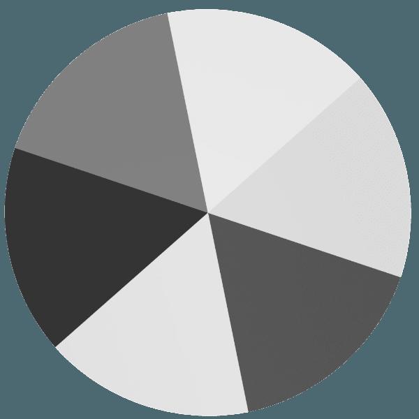 Swarovski 5062 - Round Spike, Crystal Light Chrome