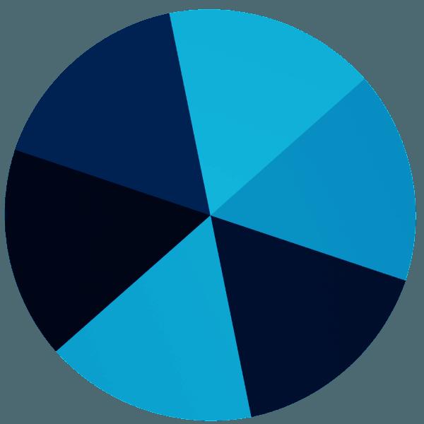 Swarovski 5062 - Round Spike, Crystal Metallic Blue