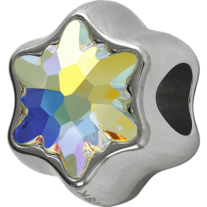Swarovski 81961 - Becharmed Edelweiss Bead Crystal AB 1