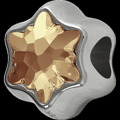 Swarovski 81961 - Becharmed Edelweiss Bead Golden Shadow