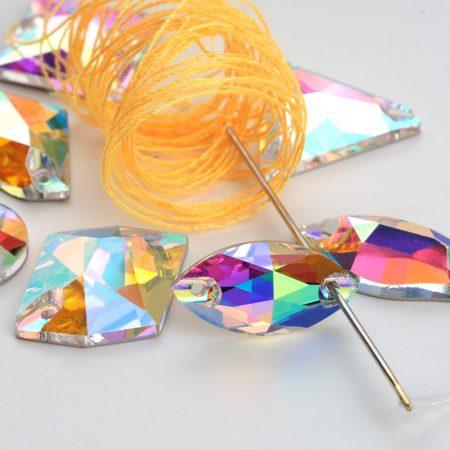 Кристали за зашиване Crystal AB, хамелеон цвят