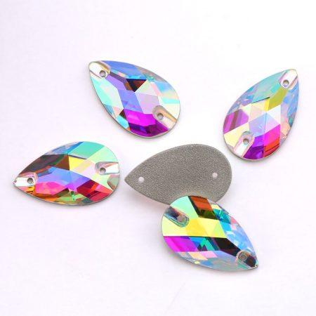 Капки кристали за зашиване, crystal ab, хамелеон, художествена гимнастика