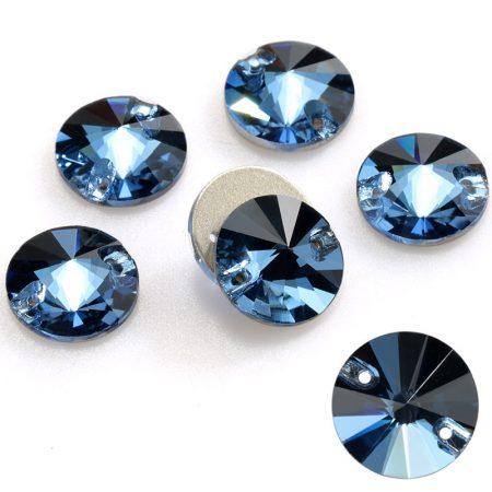 Кръгли кристали за зашиване сини