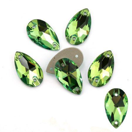 Кристални капки за зашиване, рокли, трика, зелени