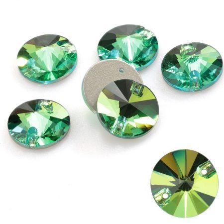 krugli kristali za zashivane rokli, trika, zelen