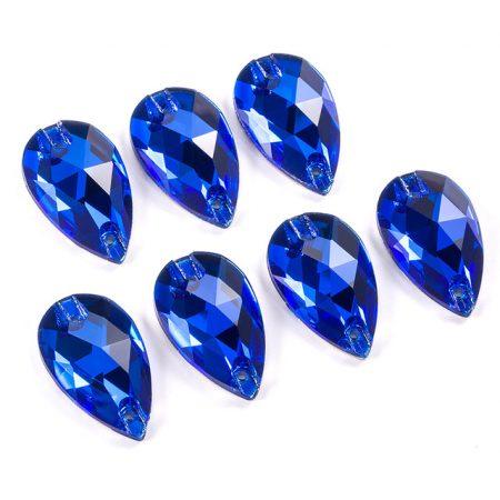Капки кристали за зашиване, сини, рокли, трика