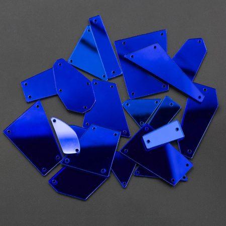 Сини огледала за дрехи, танци, рокли, украса, мода, пластмасови