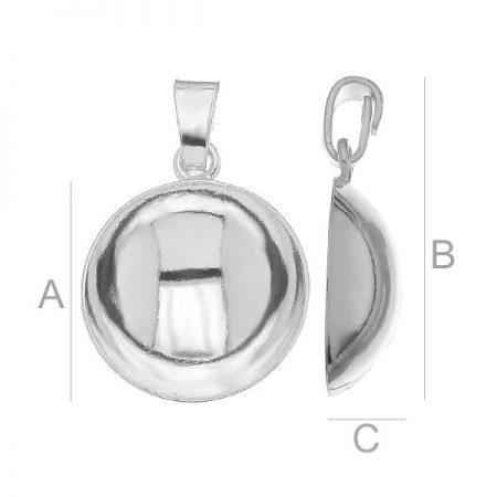 N007 - Сребърна основа за кръгло колие