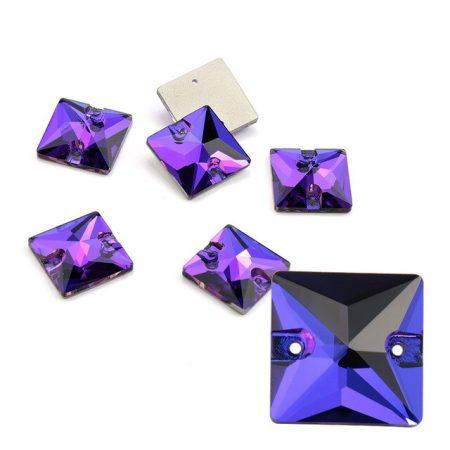 Квадратни кристаил за зашиване, лилав цвят