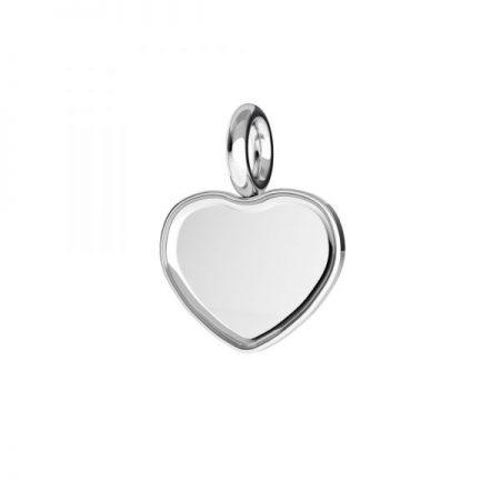 Сребърна основа сърце